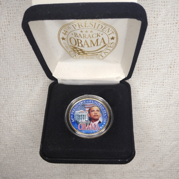 Obama 'Change We Need' 24k Gold Plated JFK Coin